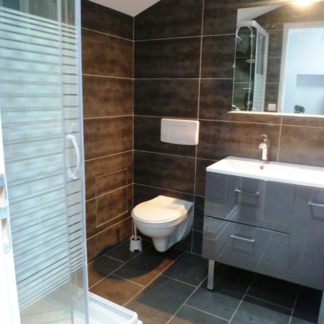 Salle de bain de République appartement meublé professionnel à Sathonay Camp